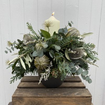 FIR GREEN Candle Table Decoration