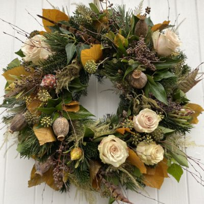 GOLDEN GLOW Door Wreath
