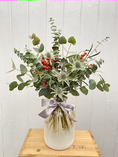 Frosted Foliage Vase – Small